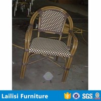 Patio furniture cheap antique wrought iron chairs/ imitate bamboo aluminum frame