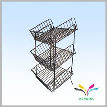 Wire metal floor stand supermarket vegetable fruit rack display shelf