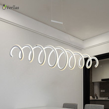 Verllas Aluminum White High Brightness Double Glow Modern Led Pendant Chandeliers Lights Home Dec Hanging Dimming Pendant lamp