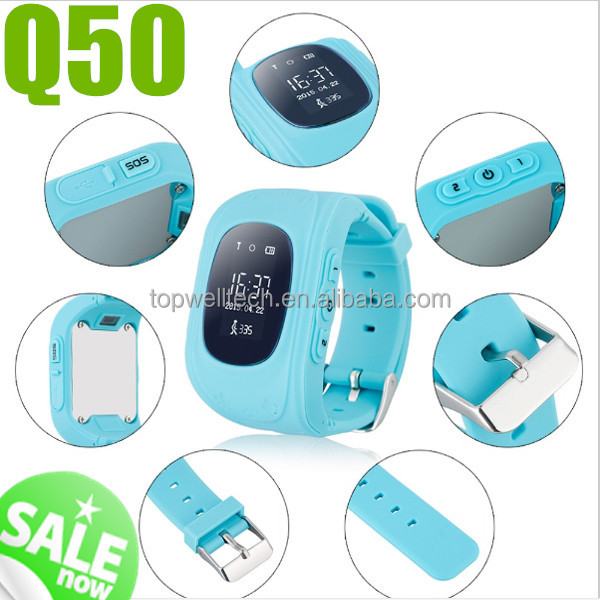 2017 hot sale Q50 kids GPS Watch Accurate Positioning Anti-Lost Cheap Q50 kids smart watch mobile phone