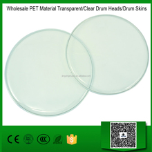Wholesale PET Material Transparent/Clear Drum Heads/Drum Skins