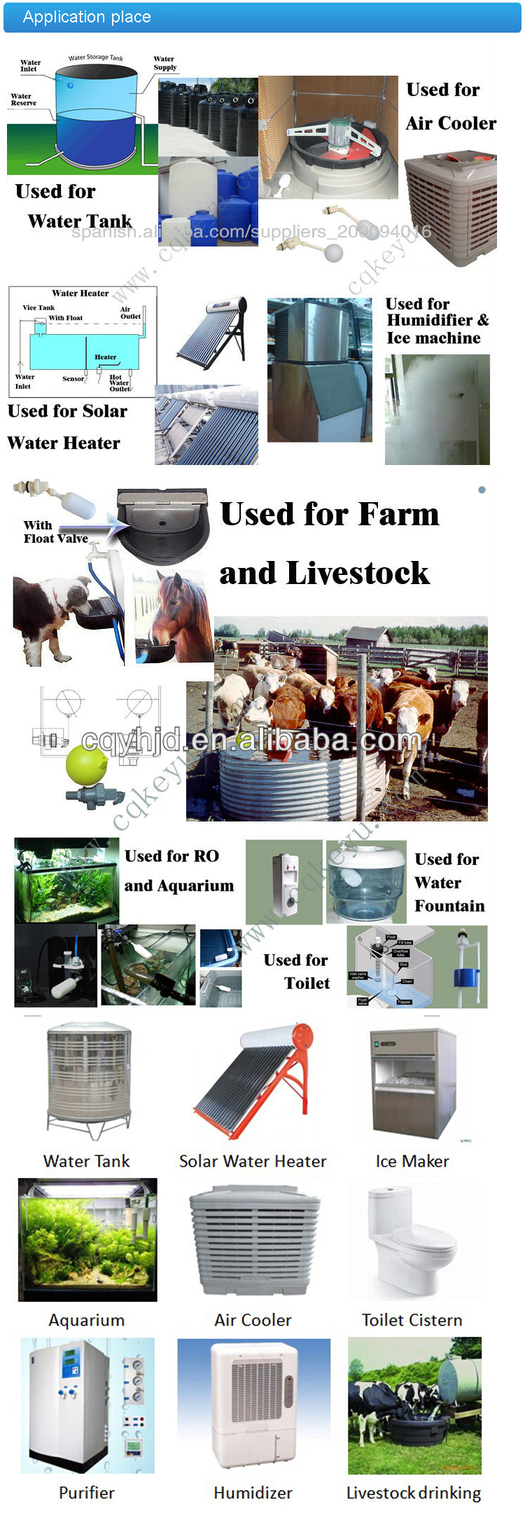 New Float Valve DN15EQ-X, Animal Drinker Cattle Cow Pig Drink Water Shutoff Fully Automatic