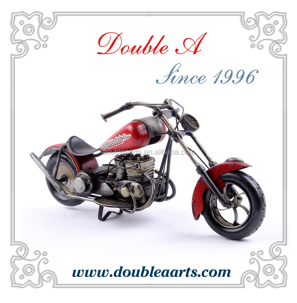 Wholesale motorcycle model handmade crafts antique motorcycle model classic home decor