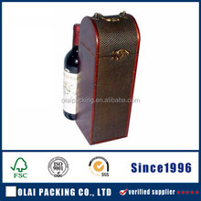 factory price superior leather one bottle wine box