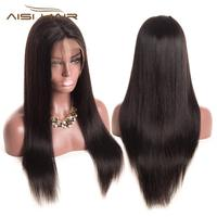 AISI HAIR best grade brazilian real virgin remy human hair glueless lace front wig overnight delivery free sample