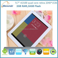 Retina screen 2gb ram 32gb aluminium alloy shell high quality android 4.1 tablet pc flash player