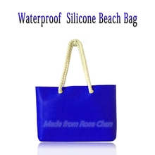 High Quality Women's Casual Fashion Smart Candy Color Silicone Waterproof Beach Big Bag / Handbags