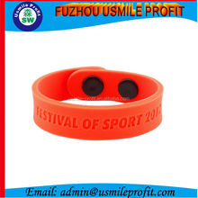 Promotion!!! Best Selling Bulk Adjustable Silicone Wristband With Printing Logo