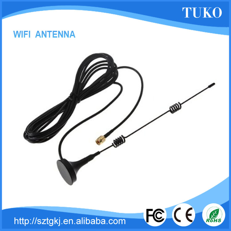 Portable Wi-Fi 2.4GHz 7 DBI Booster Antenna SMA RP with Wireless Wlan