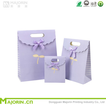 Sweet colour cute gift wrapping bags customized gift bags