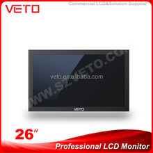 26 inch best selling China advertising monitors,lcd monitor with rca video input