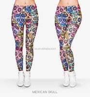 Sexy ladies tight colorful printed leggings cheap wholesale