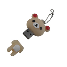 U Disk Bear Shape, Custom Logo Bear Pendrive, USB for promotional gift