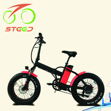 mini size fat bike 500W/750W electric foldable bicycle for sale