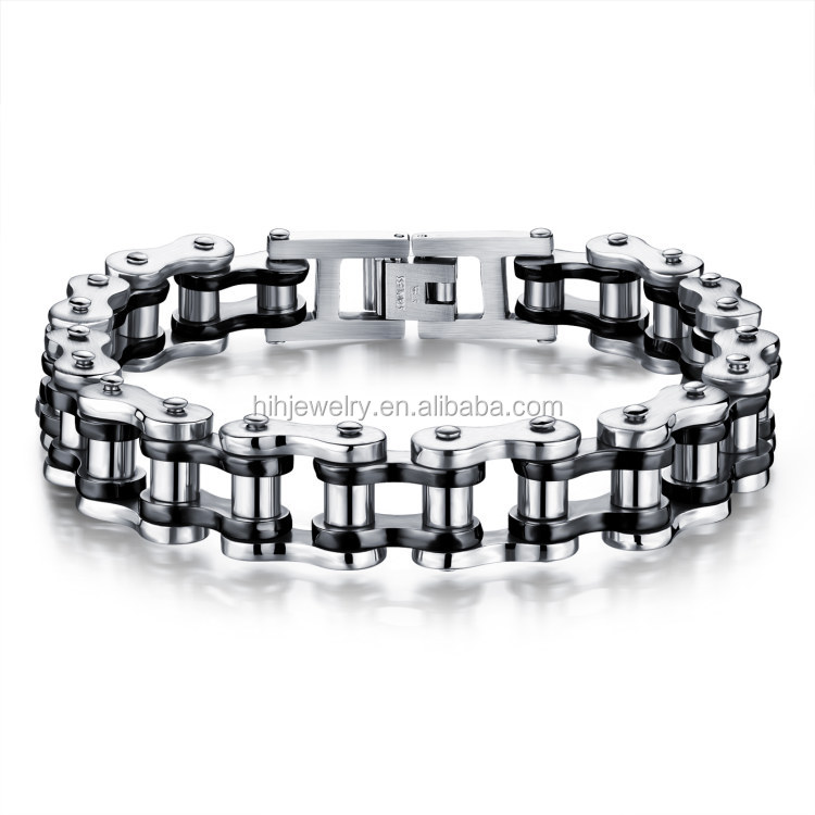 men's jewelry bike chain bio magnetic health mens bracelets black with secure bracelet clasp