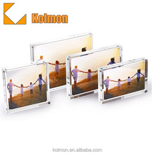 OEM Fridge Magnet Blank Clear Flip Square Magnetic Mini Acrylic Elegant photo frame