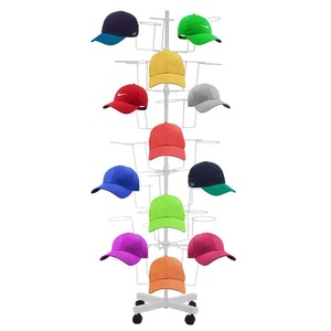 Multi-layer Adjustable Spinner Hanging Cap Rack Tree Hat Display Rack for Retail Store