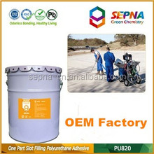 durable self-leveling PU820 provides remedial treatment adhesive for new buildings without asphalt
