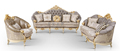 Fabric Design Living Room Furniture Luxury Latest Drawing Wooden Sofa Set