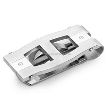 sliver metal money clip with spring