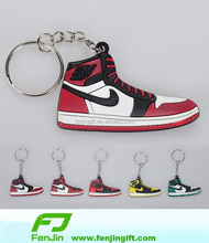 soft rubber Silicone Jordan Shoes Keyring