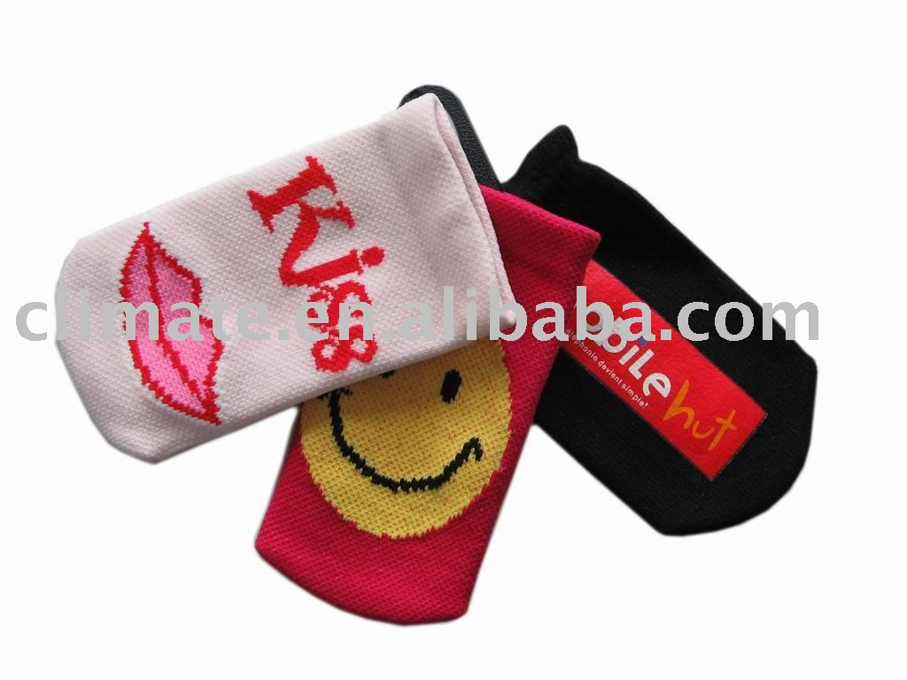 Cell phone pouch , cell phone sock , mobile pouch , mobile sock,