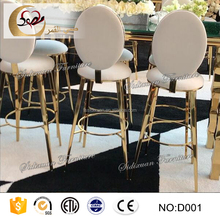 round back high stainless steel event party bar chair modern