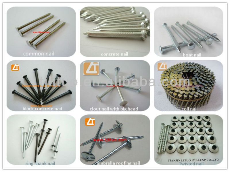 Pallet Coil Nails For Nail Gun with CN57/70/80/90