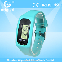 New digital watch silicone wristband calories pedometer
