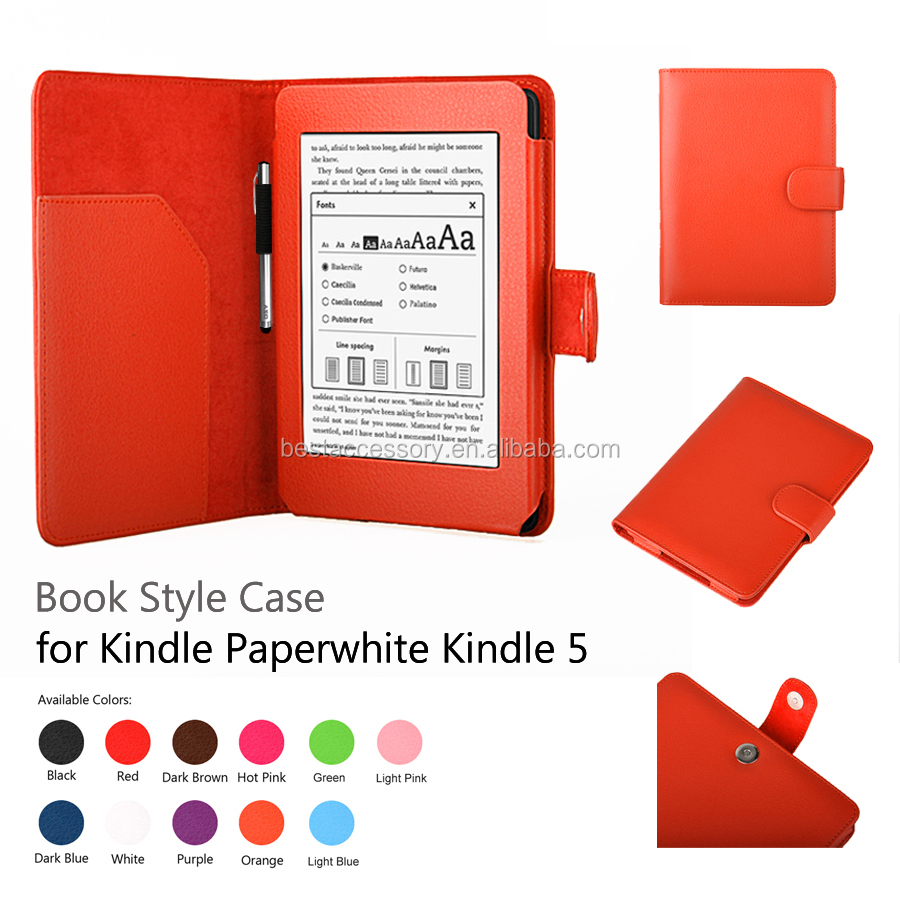 PU Leather Smart Case Cover for Amazon Kindle,for kindle Paperwhite 5 Case