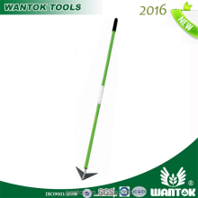 Weeder with long fiberglass handle