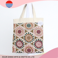 Cotton shopping bag tote factory sale high quality handle bag TC16-12