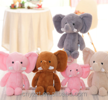 Wholesale plush animals big ear elephant plush and stuffed elephant toys with big ears