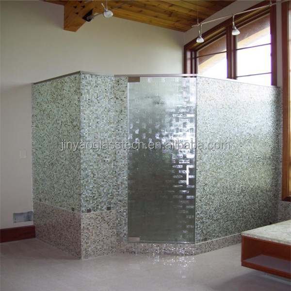 tempered glass shower wall large decorative panels
