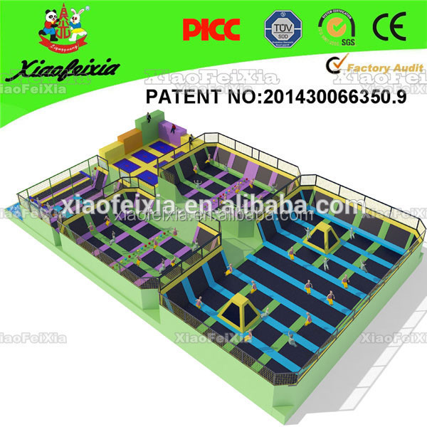 2014 the super fun high quality trampoline park,the best jumping shoes trampoline
