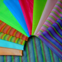 cheap strong colourful pattern rainbow organza stripe lining fabric