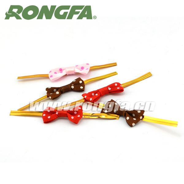 ribbon bow metallic wire clamp