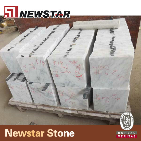Wholesales Cut To Size Polished White Marble Ceramic Tile for Flooring