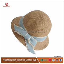 beautiful paper straw small lady's hats in summer