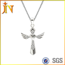 TN013 JN Wholesale Vintage Necklace Fashionable jewelry crystal cz zircon believer cross necklace & pendant