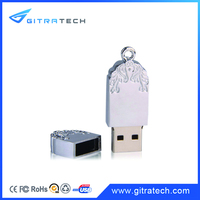OEM Wholesale USB Memory Stick China Manufacture Portable Metal 16GB Usb Flash Drive