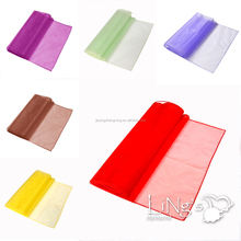 2015 Beautiful Organza Runner Table Linen for Wedding Decoration