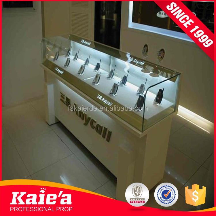 Mobile phone/cell phone shop counter table design to display
