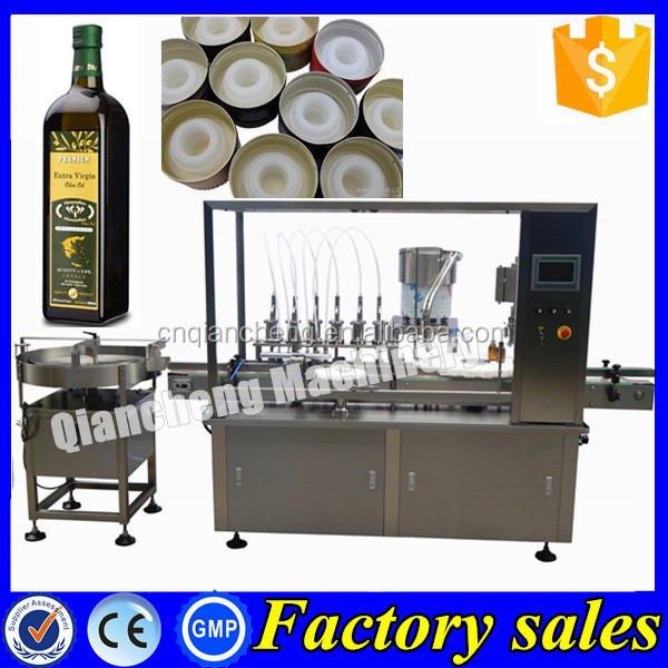 PLC controlled bottle filler and capper,eletronic vegetable oil labelling machine