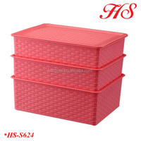 Household plastic storage organizer sets bra sock underwear storage box