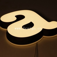 Acrylic Frontlit Led Alphabet Letter For Clothing Shop Sign