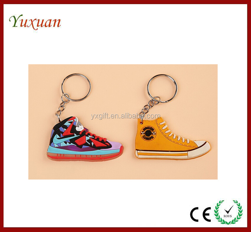 custom 3d pvc sneakers keychains toy,soft pvc sneakers keychain