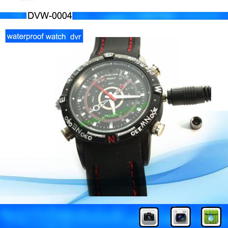 Micro DVR 1280*960 with video, audio record,PC Came water-proof watch camera