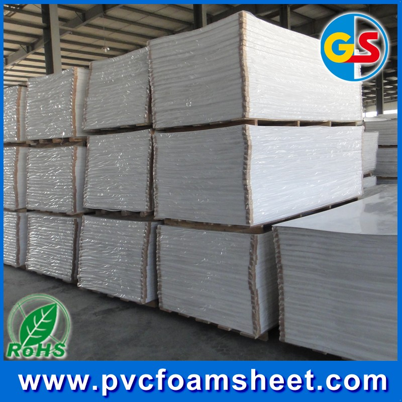 PVC Material Forex sheet/Kappa/PVC foam board in snow white color