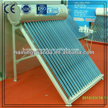 Non-pressurized solar water heater with special frame
